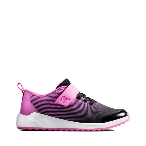Clarks Girls Aeon Pace Kid Trainers Pink | UK-3925608