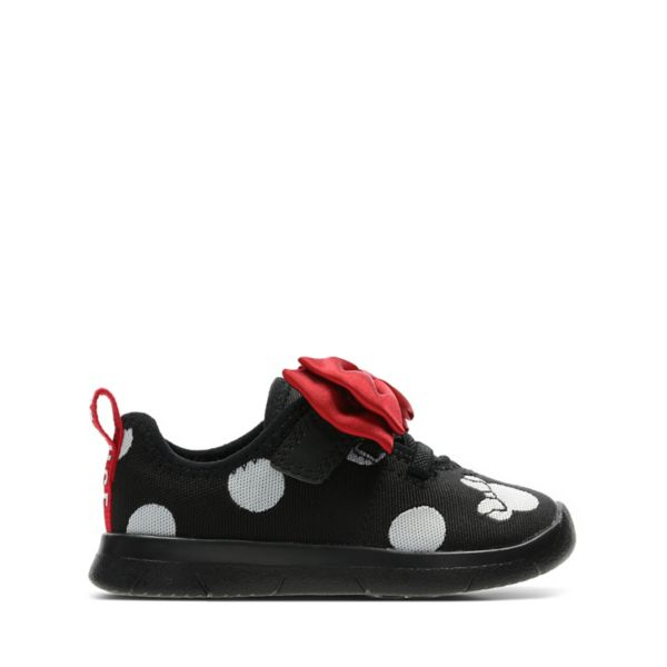 Clarks Girls Ath Bow Toddler Trainers Black | UK-8542039