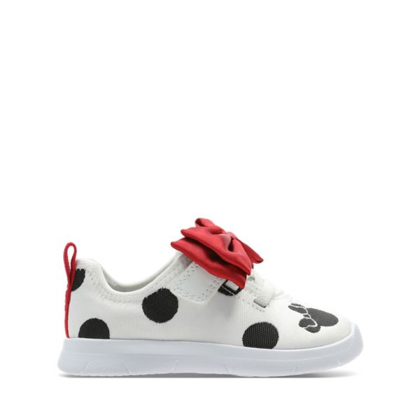 Clarks Girls Ath Bow Toddler Trainers White | UK-8905427