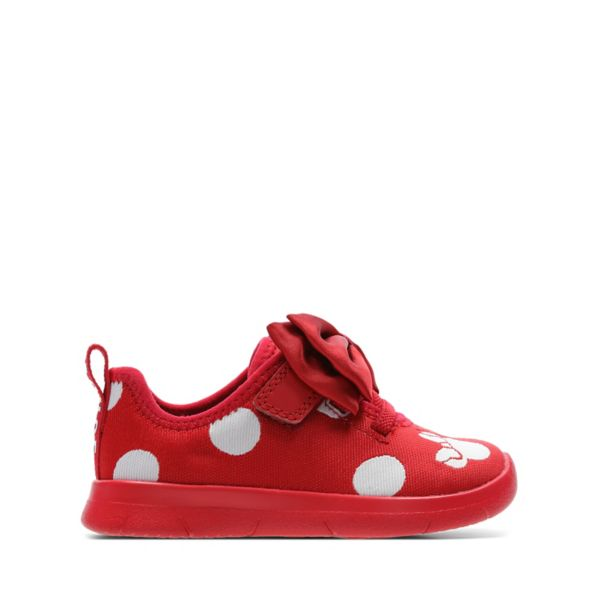 Clarks Girls Ath Bow Toddler Trainers Red | UK-2397081