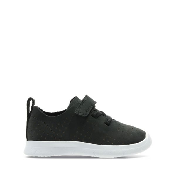 Clarks Girls Ath Elite Toddler Trainers Black | UK-5483902