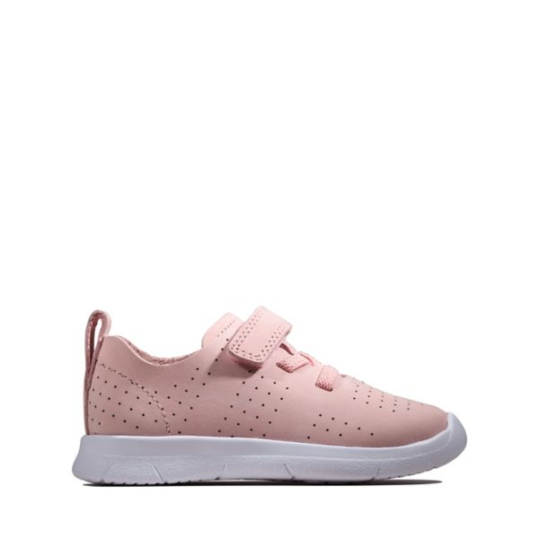 Clarks Girls Ath Elite Toddler Trainers Pink | UK-4809126