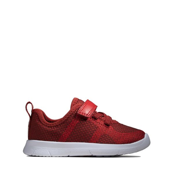 Clarks Girls Ath Flux Toddler Trainers Burgundy | UK-7163098
