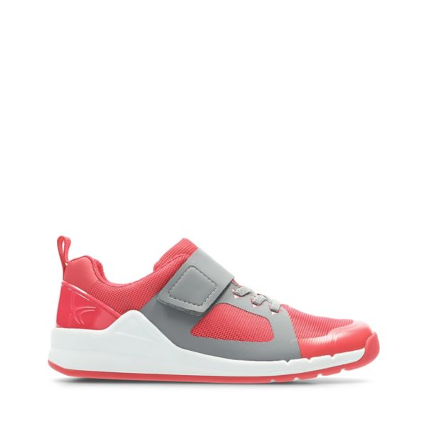 Clarks Girls Orbit Race Trainers Pink | UK-2961584