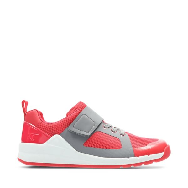 Clarks Girls Orbit Race Trainers Pink | UK-8395104