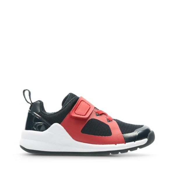 Clarks Girls Orbit Race Trainers Red | UK-963274
