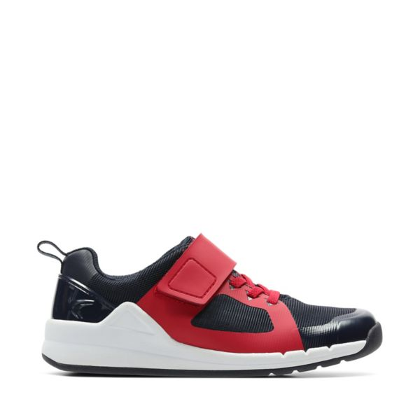 Clarks Girls Orbit Race Trainers Red | UK-7534098
