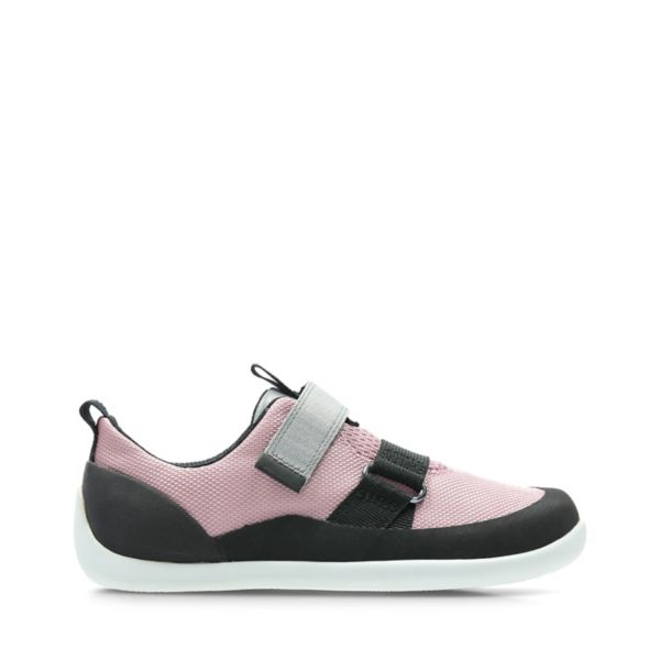 Clarks Girls Play Pioneer Trainers Pink | UK-8971354