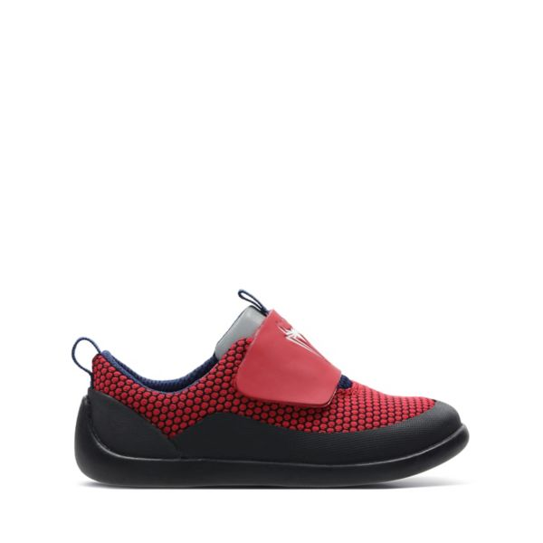 Clarks Girls Play Power Toddler Trainers Red | UK-6178452
