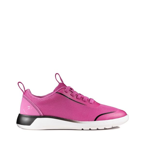 Clarks Girls Suburb Spark Kid Trainers Pink | UK-9672345