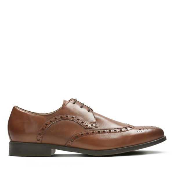 Clarks Mens Amieson Limit Brogues Brown | UK-2789051