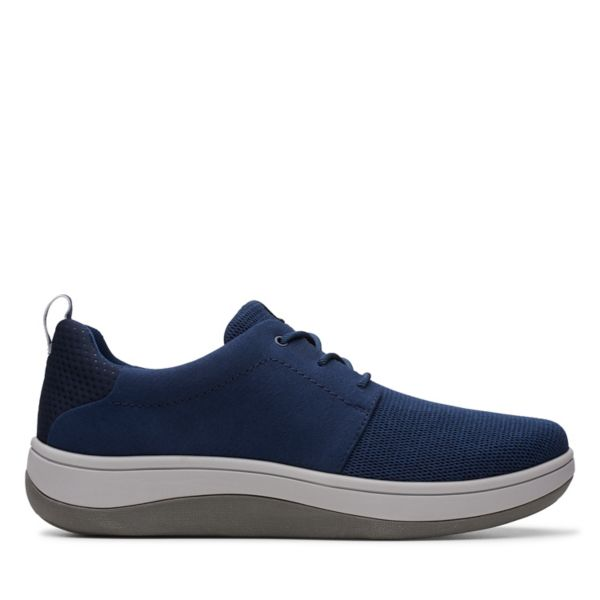 Clarks Mens Arla Free Trainers Navy | UK-1395740
