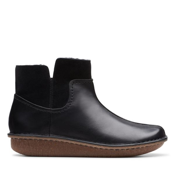 Clarks Womens Funny Mid Ankle Boots Black | UK-8392650